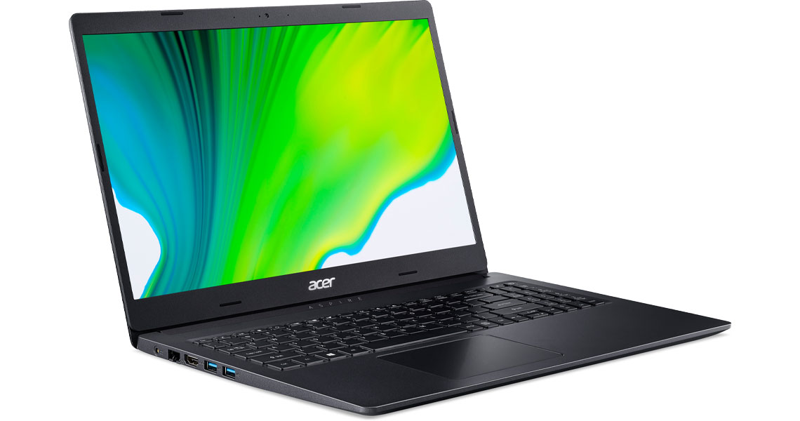 Das Tablet mit Full HD Auflösung ACER Aspire 3 A315-23-R78S 15.6 Zoll Ryzen 5 3500U 8GB 1TB SSD Vega 8 Win 10 Home Schwarz