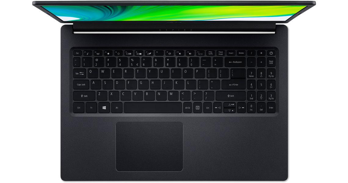 Das Startgewicht des Tablets von weniger als 2 kg ACER Aspire 3 A315-23-R78S 15.6 Zoll Full-HD Ryzen 5 3500U 8GB 1TB SSD Vega 8 Win 10 Home Schwarz