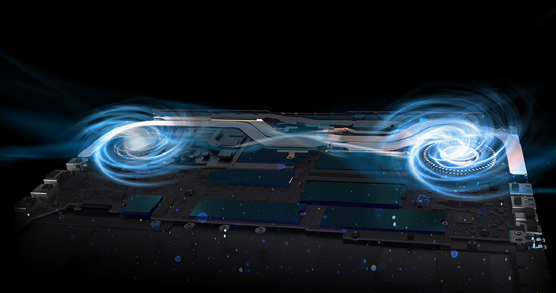 Das Laptop mit der Kühltechnologie ACER Predator Triton 300 PT315-52-73X4 15,6 Zoll Full HD i7-10750H 16 GB 1 TB SSD Win10 Black