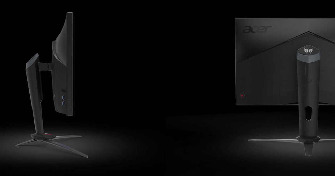 Die Konstruktion der Bildschirmes ACER Predator XB3 XB273KGP 68,6 cm 27 Zoll 4K TFT