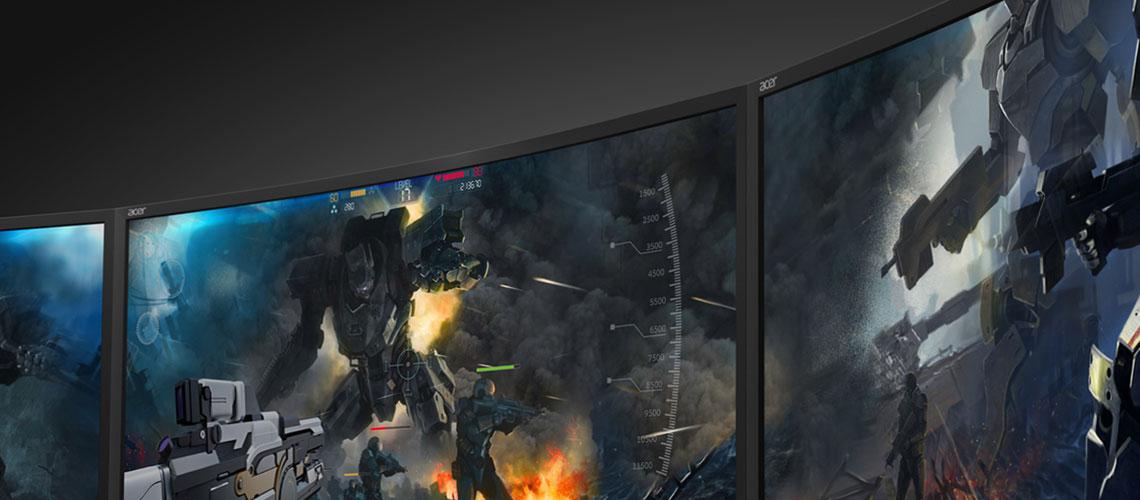 Der Bildschirm mit der GameView Technologie ACER Predator Z35P 88,9 cm 35 Zoll TFT