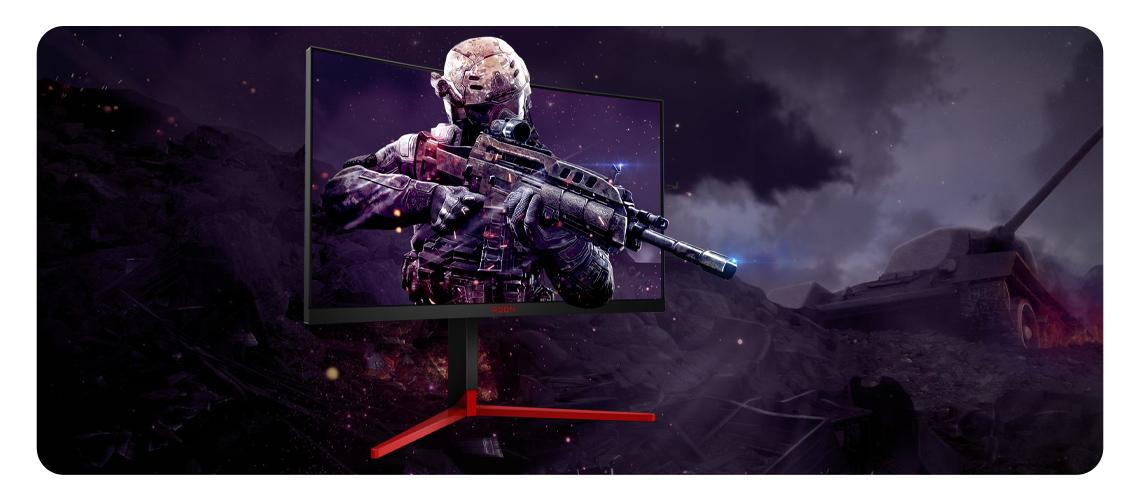 Der AG273QCG Gaming-Monitor mit QHD-Auflösung