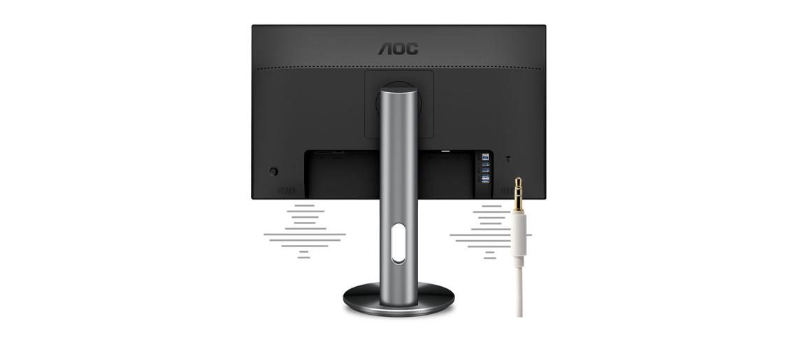 Eingebaute Lautsprecher im AOC I2490PXQU Monitor