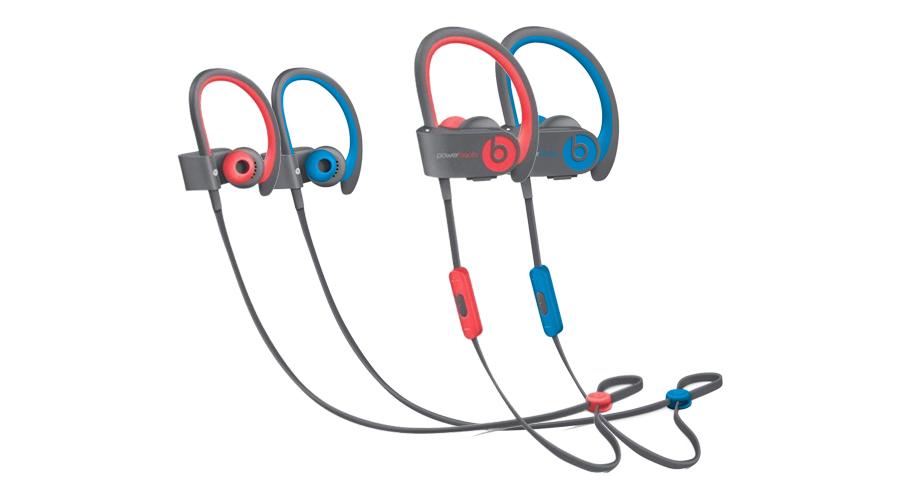 Wireless Ohrhörer Apple Beats Powerbeats2 Active Wireless Blau In-Ear Kopfhörer Rot