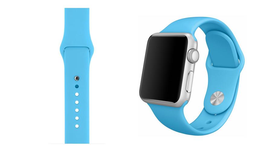 Blau Marineblau Silikon-Uhrband Apple Watch 38 mm