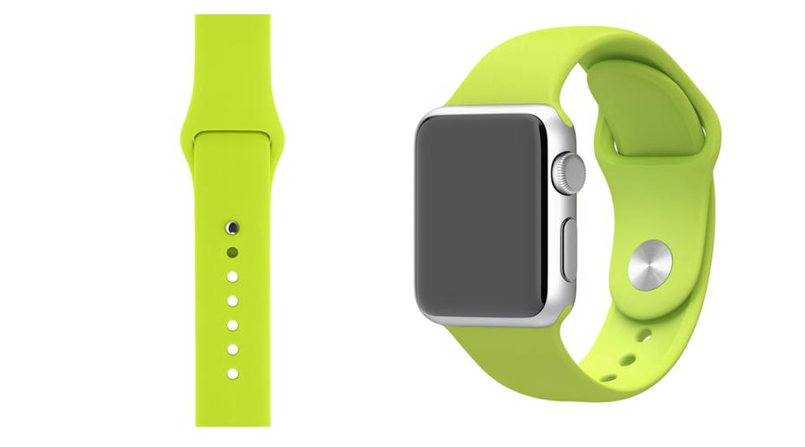 Grün Silikon-Uhrband Apple Watch 38 mm