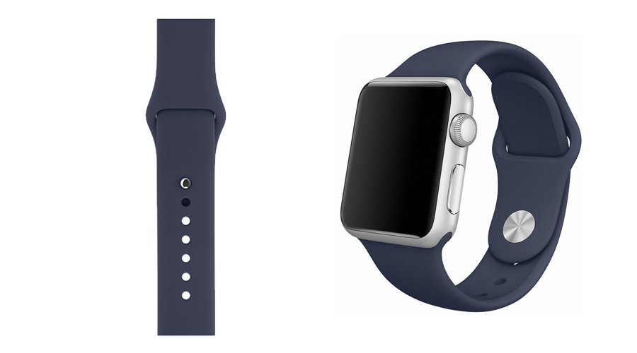 Ozeanblau Marineblau Silikon-Uhrband Apple Watch 38 mm