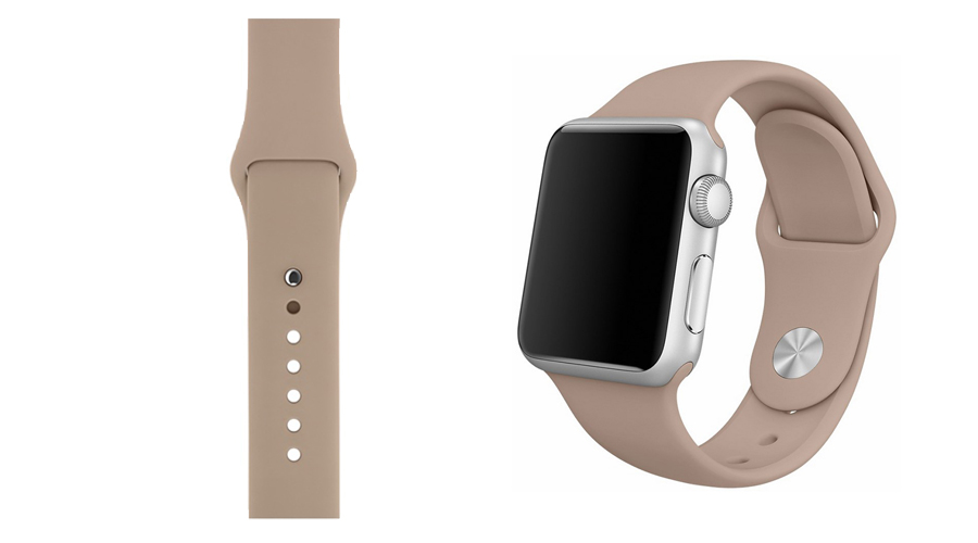 Nussbraun Silikon-Uhrband Apple Watch 38 mm