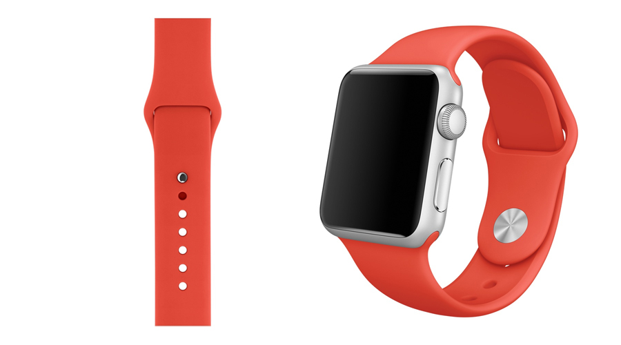 Orange Silikon-Uhrband Apple Watch 38 mm