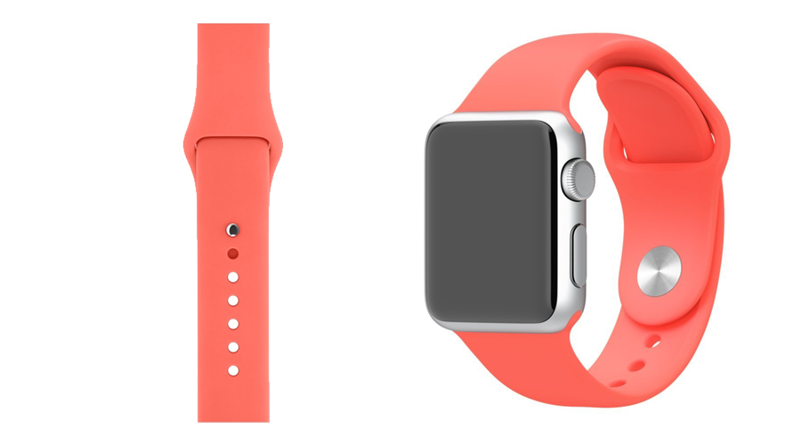 Rosa Silikon-Uhrband Apple Watch 38 mm