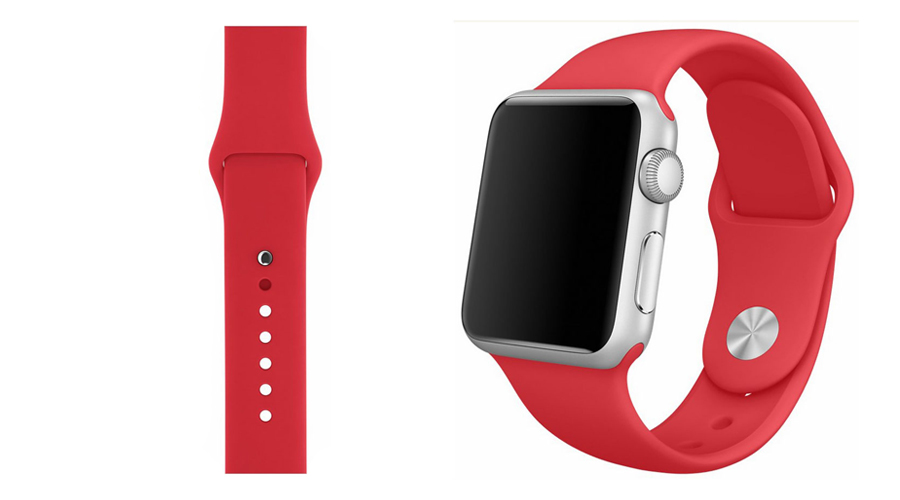 Rot Silikon-Uhrband Apple Watch 38 mm