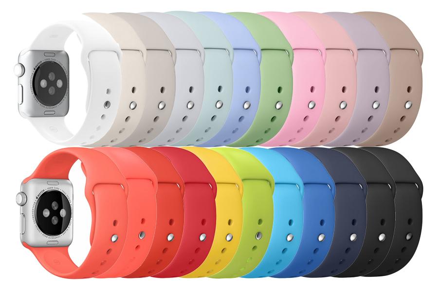 Silikon-Uhrband Apple Watch 38 mm
