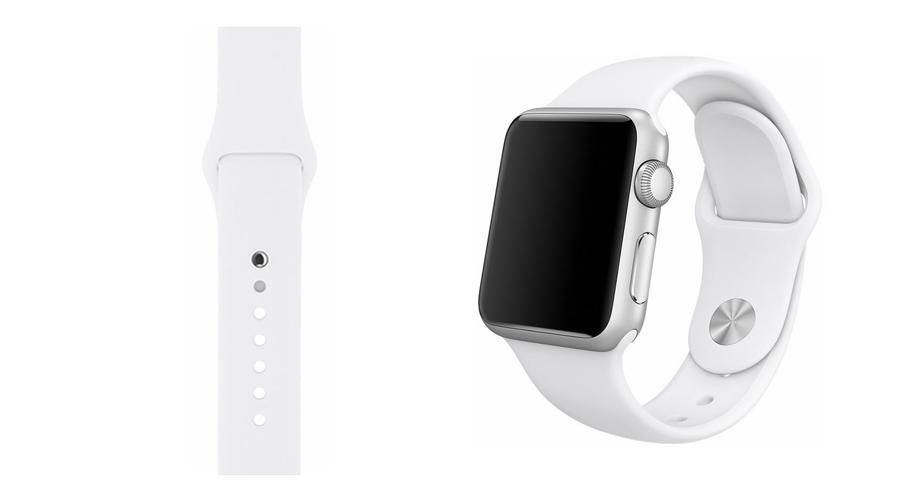 Weiß Silikon-Uhrband Apple Watch 38 mm