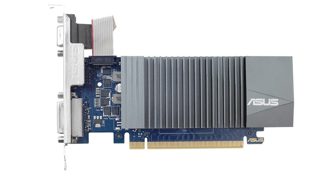 Die Grafikkarte mit drei Ausgängen HDMI DVI und D Sub ASUS GeForce 2GB GDDR5 GT710-SL-2GD5