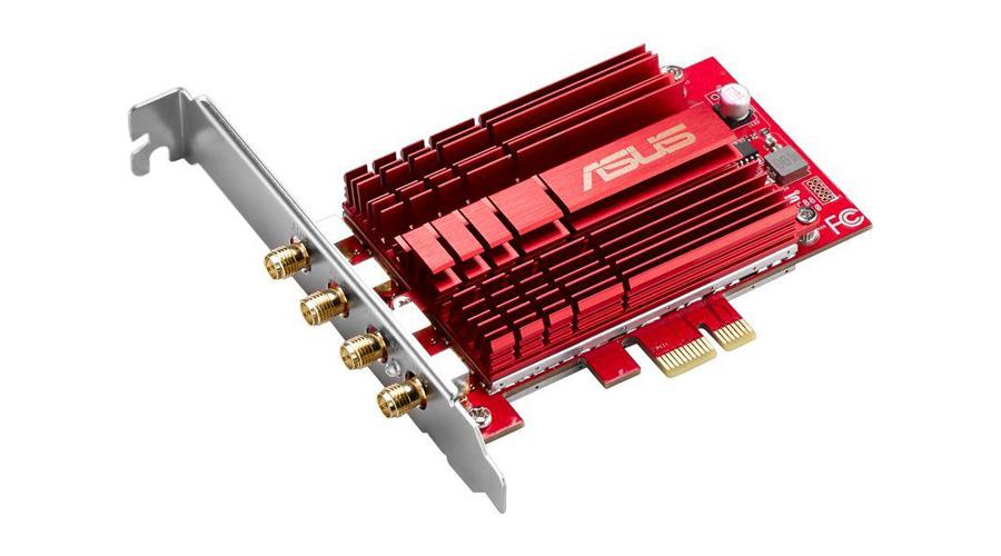 Die Netzwerkkarte mit der NitroQAM Technologie ASUS PCE-AC88 MU-MIMO DualBand
