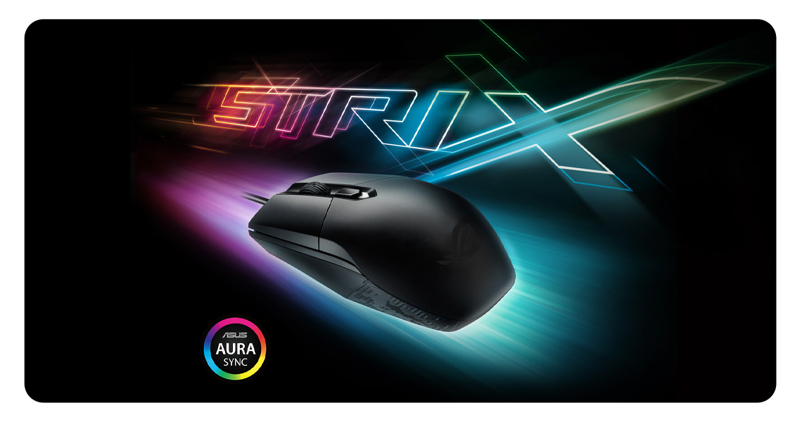 ASUS Aura Sync RGB-Beleuchtungstechnologie  Maus Gaming Mouse