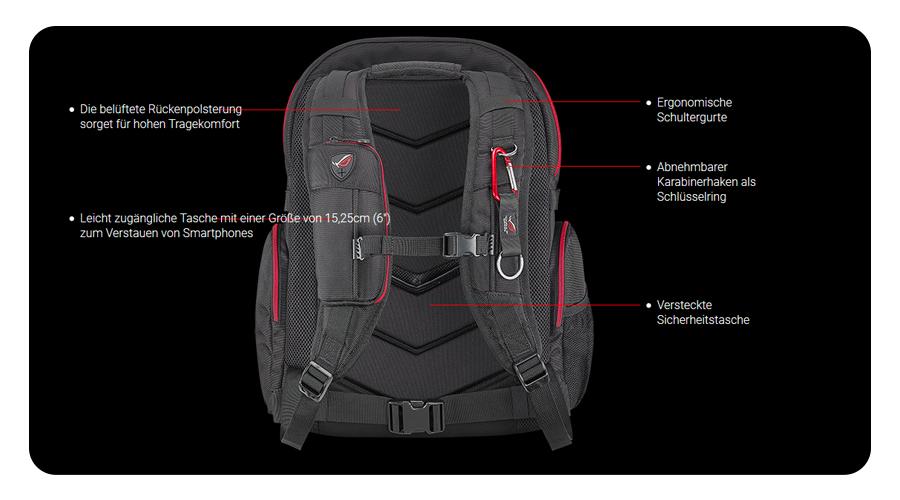 Gaming Backpack Laptoprucksack Notebookrucksack