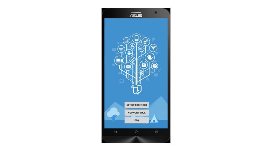 ASUS-Extender-App AC750 Dual-Band WLAN-Repeater