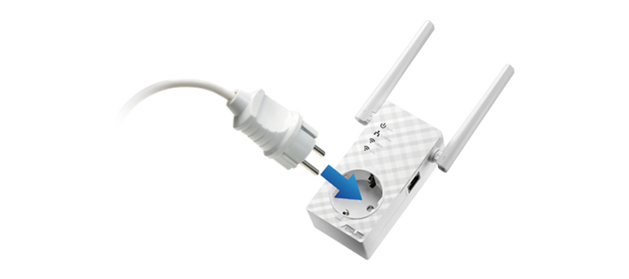 Der Repeater mit AC Pass Through ASUS RP-AC53 802.11a/b/g/n/ac 750Mb/s