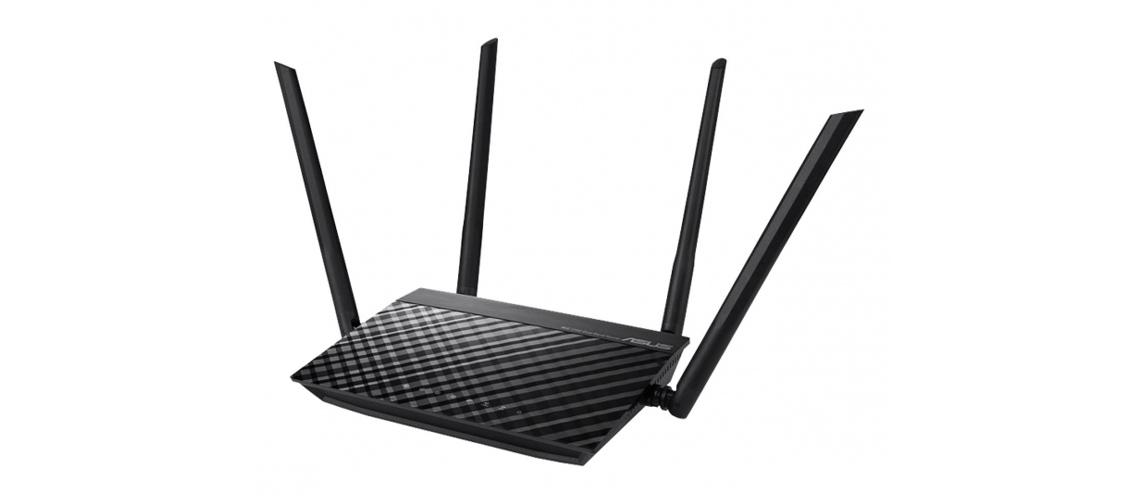 Der Router mit Wi Fi Standard der 5. Generation ASUS RT AC1200 V2 Drahtloser Router WiFi 5 802.11 a/b/g/n/ac Externe 4