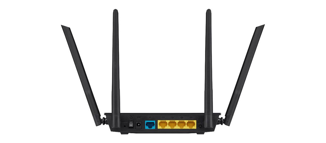 Dualband Verbindung mit dem Router ASUS RT AC1200 V2 Drahtloser WiFi 5 802.11 a/b/g/n/ac Externe 4