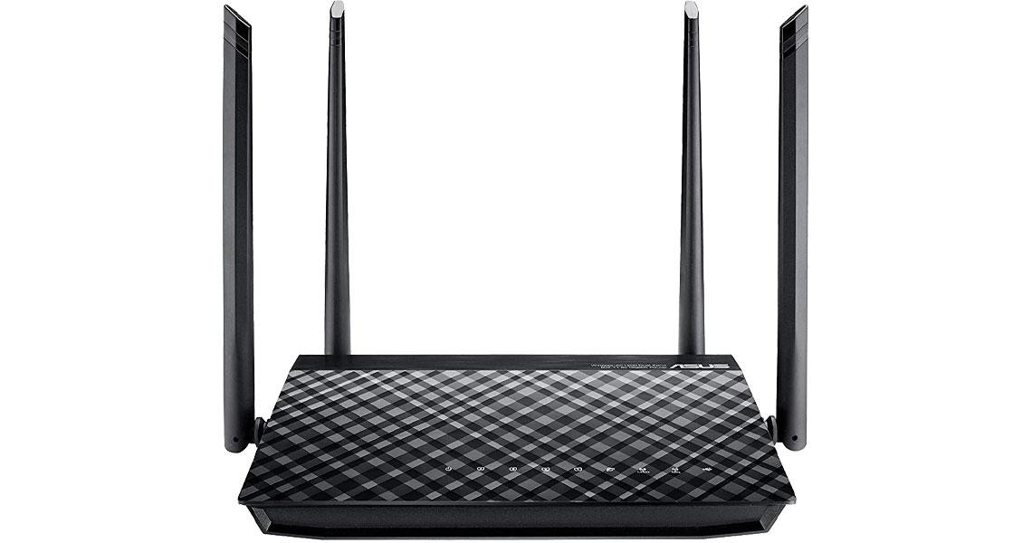 Der Router mit zwei eingebauten USB 2.0 Anschlüssen ASUS RT AC57U Home Office WLAN