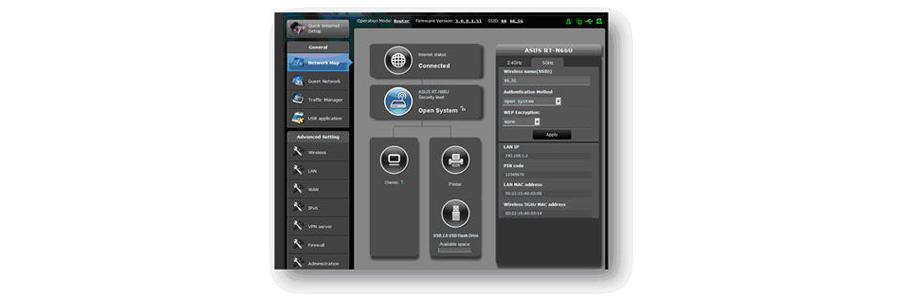 ASUSWRT Dashboard-Benutzeroberfläche