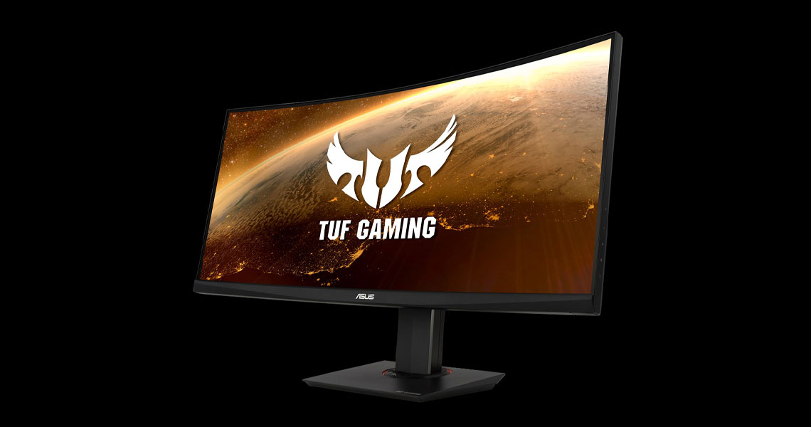 Der Monitor mit der ASUS Extreme Low Motion Blur Technologie TUF Gaming VG35VQ 88,9 cm 35 Zoll TFT
