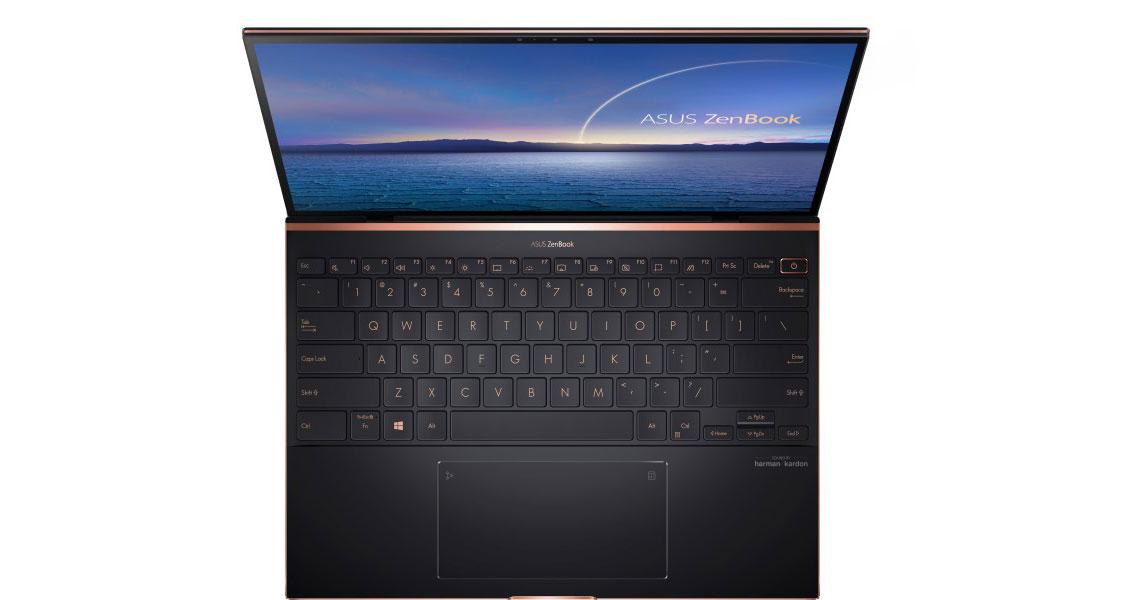 Audiotechnologie im Notebook ASUS ZenBook S UX393EA HK001R 13.9 Zoll 3K i7 1165G7 16GB 1TB SSD Win 10 Pro jade black
