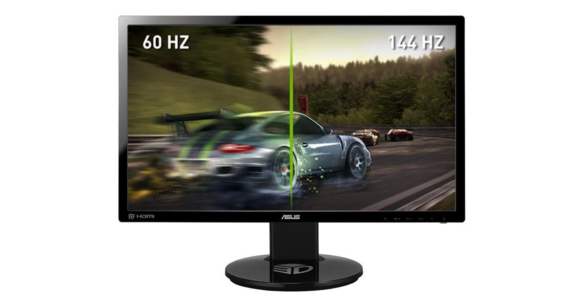 Der Gaming Monitor mit Bildwiederholungsrate von 144Hz ASUS VG248QE 61 cm 24 Zoll TFT