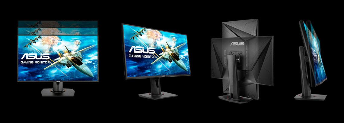 Ergonomische Konstruktion des Monitors ASUS VG258QR 62,2 cm 24,5 Zoll TFT