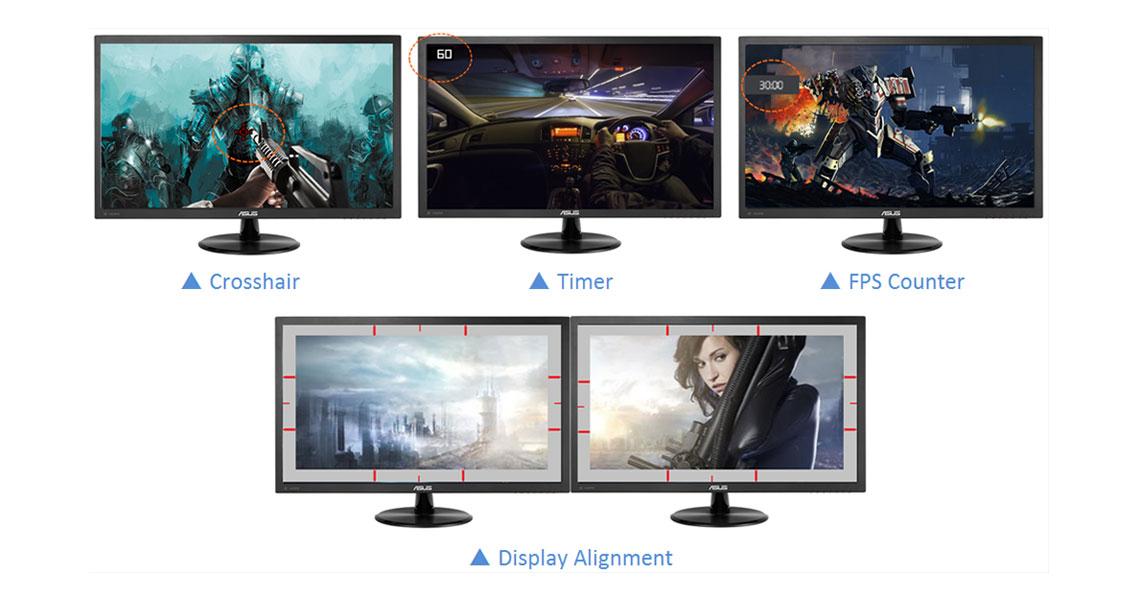 Der Bildschirm mit der ASUS GamePlus Technologie VP278QG 68,6 cm 27 Zoll TFT
