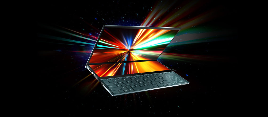 Zweitdisplay mit Touch Funktion und intergrierte Apps im Laptop ASUS Pro Duo UX581LV H2014R 15,6 Zoll Display i9 10980HK 32 GB 1 TB SSD RTX2060 Win 10 Pro Celestial Blue