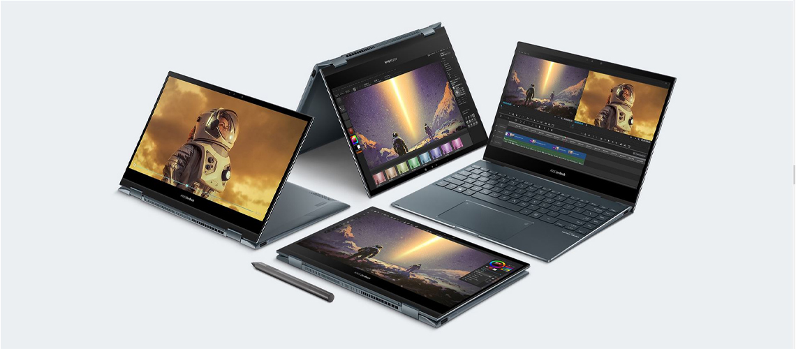 I/O Ports im Notebook ASUS ZenBook Flip 13 UX363EA EM045R 13,3 Zoll i7-1165G7 16GB 1TB SSD Win 10 Pro Pine Grey