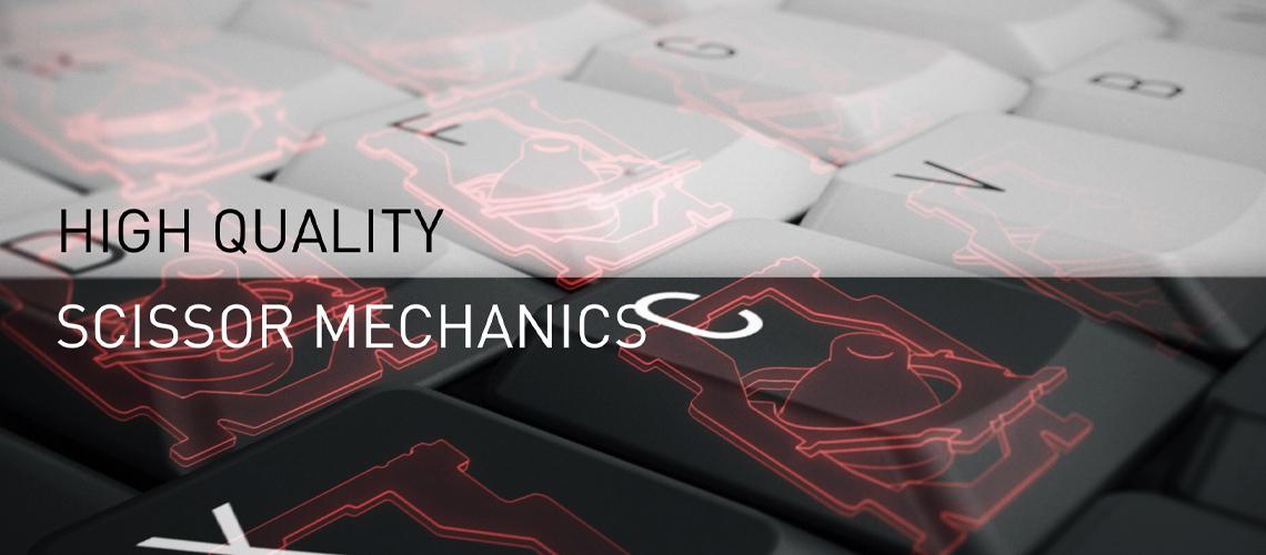 Die Tastatur mit der SX Scherentechnologie CHERRY JK8500DE0 GRAU WEISS DE