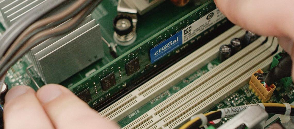 Der Speicher für Laptops CRUCIAL 4GB DDR4 SODIMM 2666MHz CL19