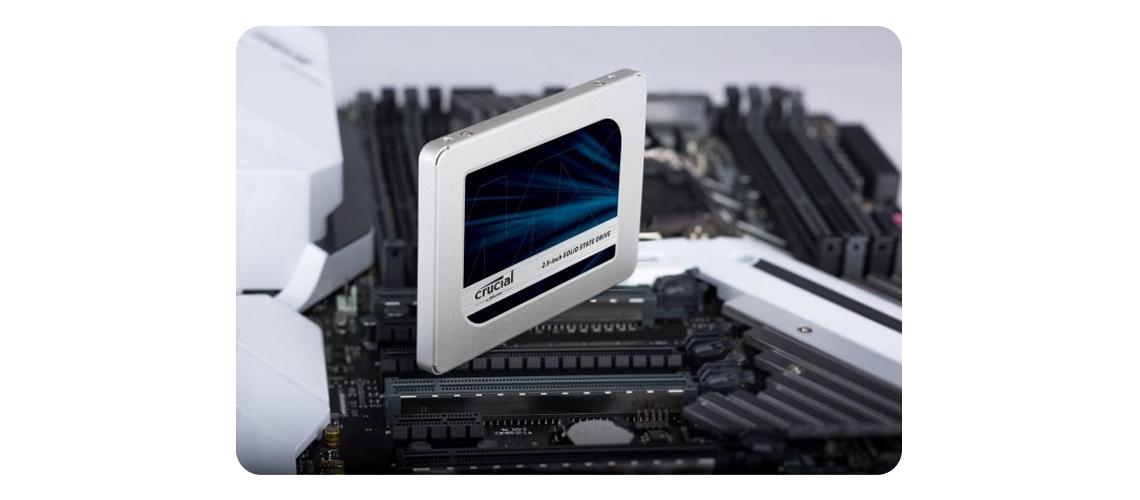 Speicherung von Fotos Musik und Videos mit der Festplatte Crucial MX500 2,5 Zoll