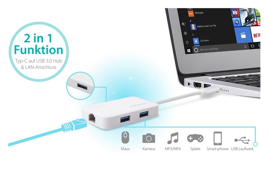 USB3.0 Hub mit 3 USB Ports
