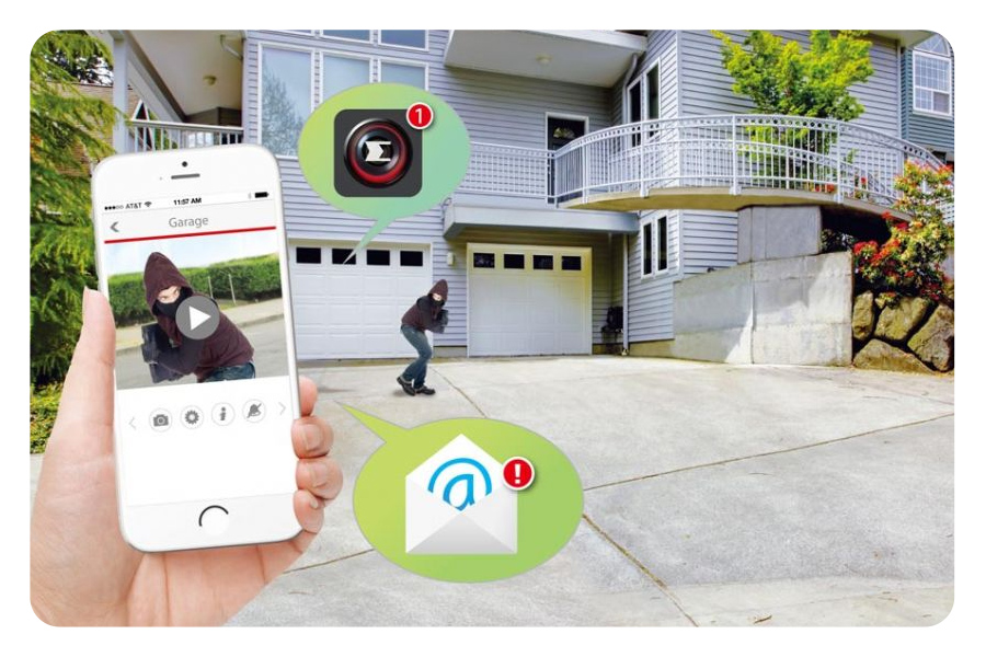Push-Benachrichtigungen & Videoalarme