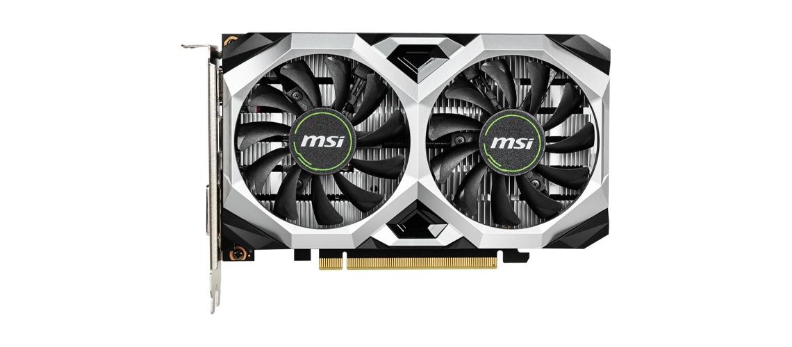 Die Grafikkarte mit der NVIDIA Turing Architektur MSI GeForce GTX 1650 VENTUS XS OC 4GB GDDR5