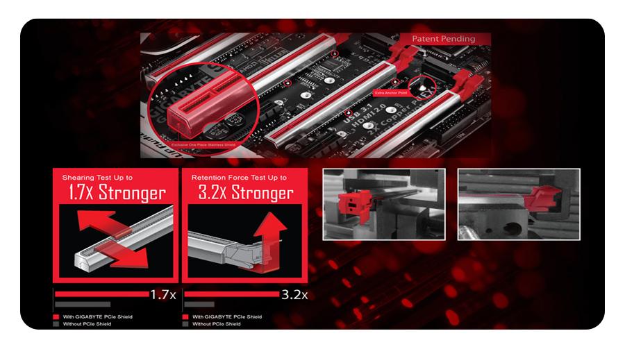 Die Ultra Durable ? PCIe Metal Shielding Technologie