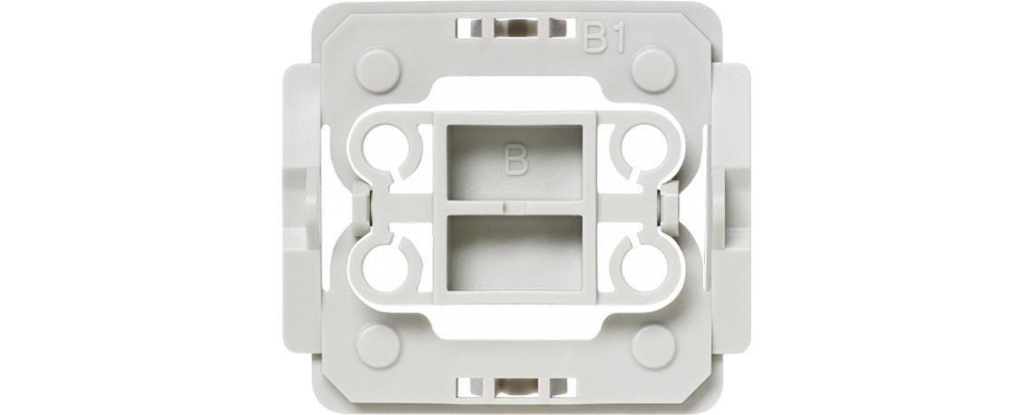 Der Adapter mit Smart Home Technik HOMEMATIC IP Berker B1 103094A2A