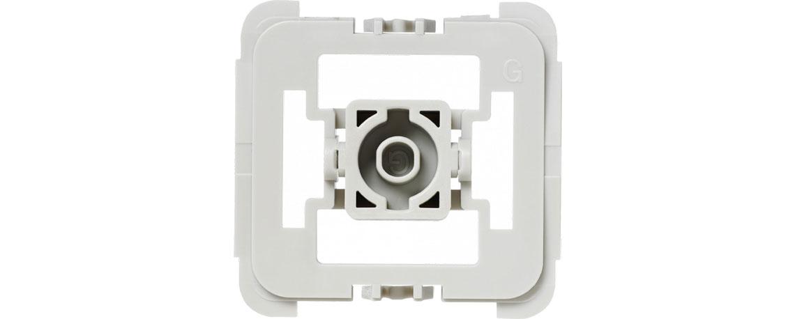 Der Adapter mit Smart Home Technik HOMEMATIC IP Gira 55 103091A2