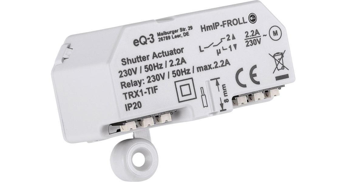 Steuerung von elektrischen Rollläden und Markisen mit dem Rollladenaktor Homematic IP Unterputz 151347A0