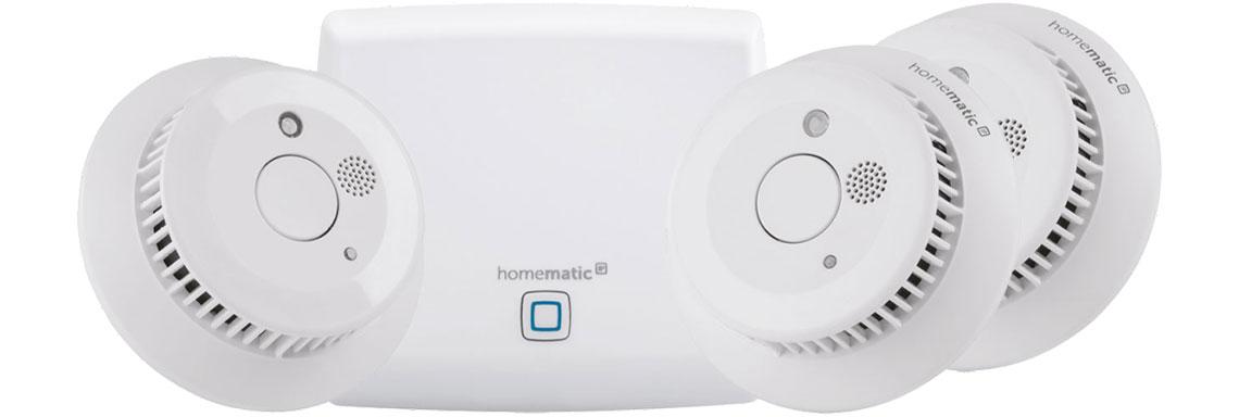 Der Rauchwarnmelder mit der App für Smartphone HOMEMATIC IP Starter 150788A0
