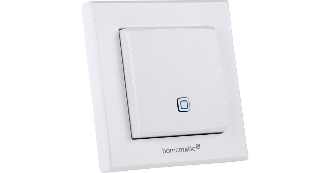 Der Temperatur und Luftfeuchtigkeitssensor als Teil des Homematic IP Smart Home Systems innen 150181A0