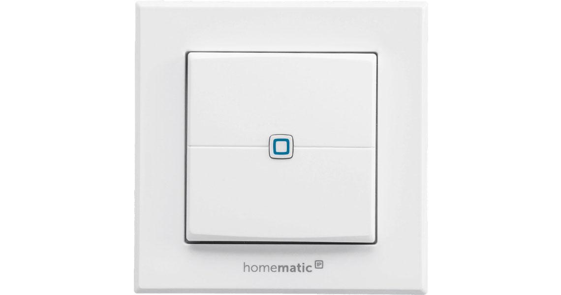Der Wandtaster mit Batteriebetrieb Homematic IP 140665A0
