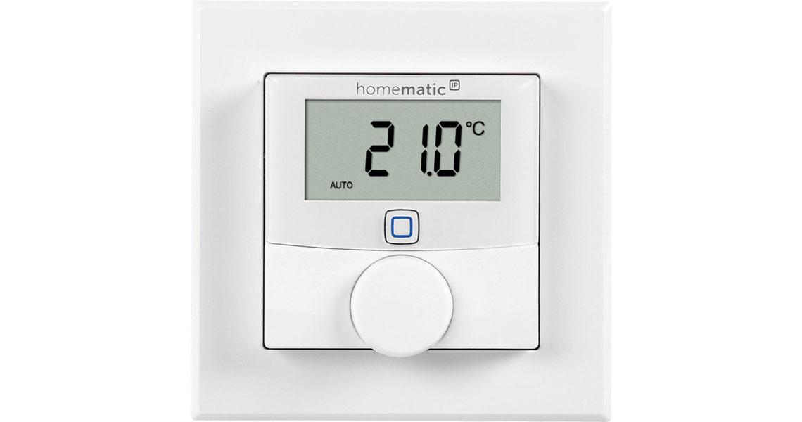 Messung von der Temperatur und Luftfeuchtigkeit mit dem Wandthermostat HOMEMATIC IP 150628A0