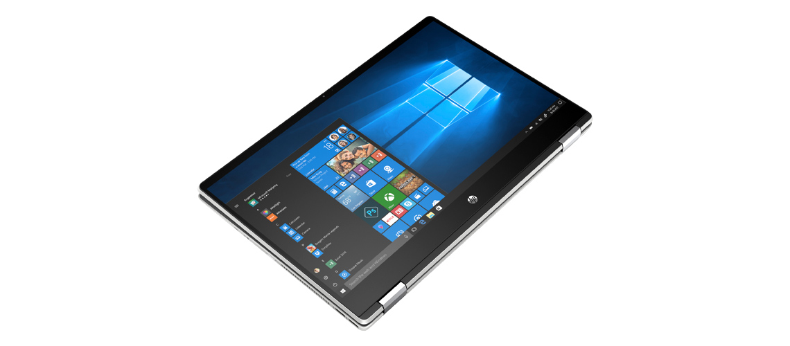 Display mit Micro Edge Blenden im Notebook HP Pavilion x360 15,6 Zoll Full HD Touch i5 10210U 256GB SSD Intel Optane Win 10 Home natural silver
