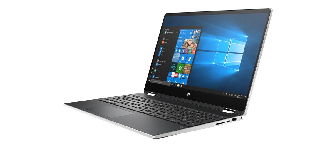 Das Laptop mit 178 Grad Betrachtungswinkel HP Pavilion x360 15,6 Zoll Full HD Touch i5 10210U 256GB SSD Intel Optane Win 10 Home natural silver